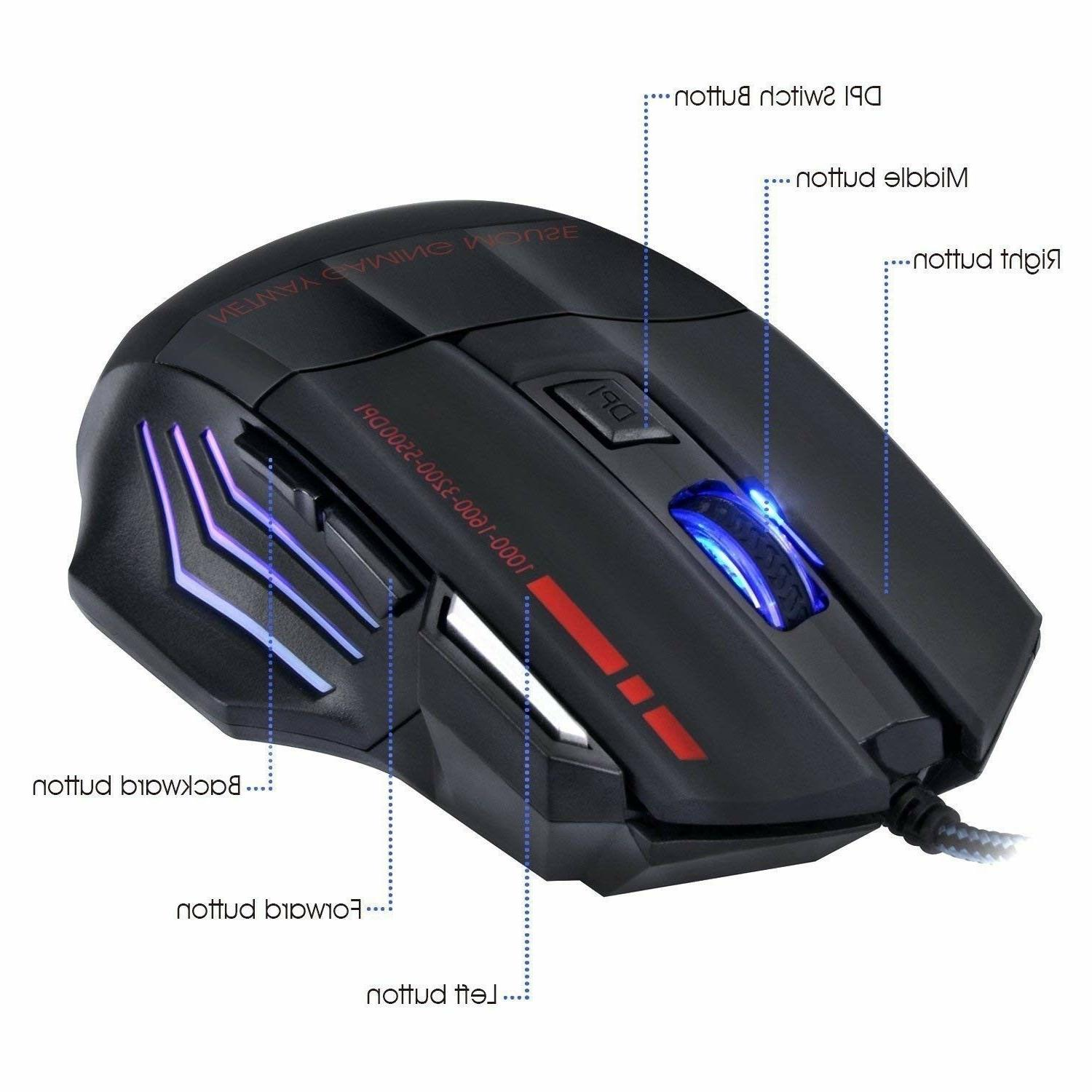 Keyboard Mouse Set for PS4 PS3 Xbox One and Gaming Rainbow LED Combo