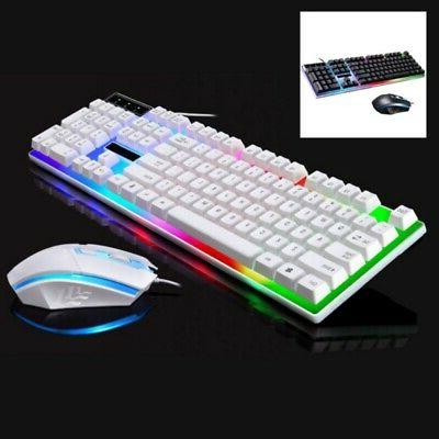 LED Keyboard Mouse Set Adapter for PS4,PS3 Xbox One and 360