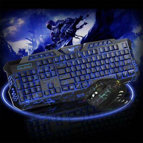 LED Gaming 2.4G Keyboard Mouse Set PS4 Xbox One and 360