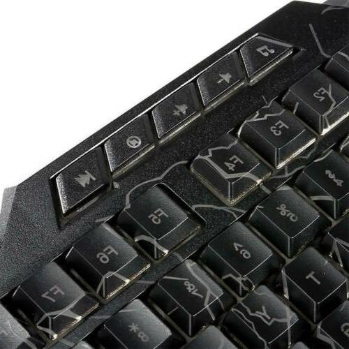 LED Gaming Keyboard Mouse for PS4 and 360 Gamer