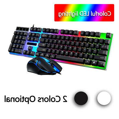 led light backlit computer desktop gaming wired