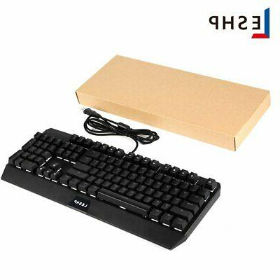 LESHP Game LED USB Wired Mechanical 9W