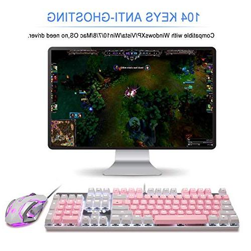 Mechanical Gaming Keyboard USB Character Switches for