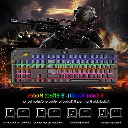 VicTsing Gaming USB Anti-Ghosting with Switches, Keyboard Computer