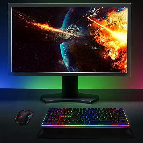 Rosewill Mechanical Gaming Keyboard, RGB Glow Backlit Computer Mechanical Switch for PC, Laptop, Software Gaming