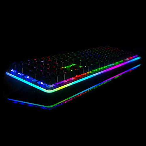 Rosewill RGB Glow Computer Switch Keyboard for Laptop, Software Customizable Gaming