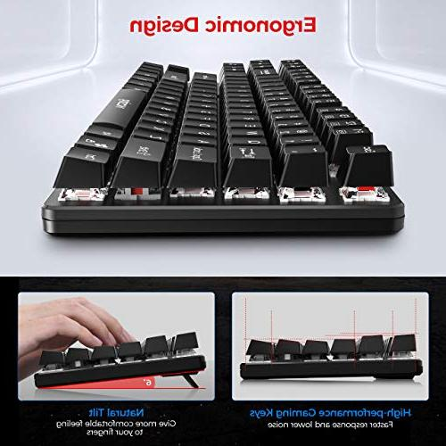 VicTsing Keyboard, Gaming Keyboard with Wired Pluggable Waterproof for PC Black