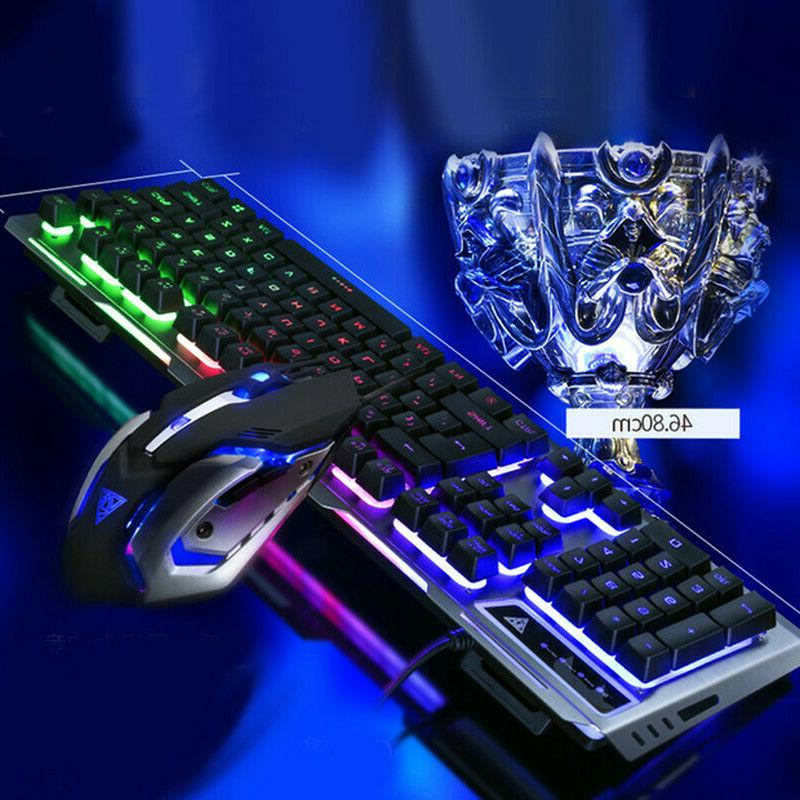 US Cable Gaming Keyboard+Mouse