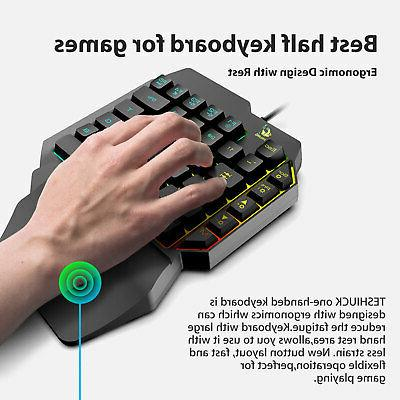 Mini Keyboard RGB Backlit USB Wired Accessory