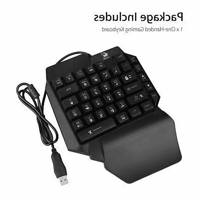 Mini Gaming RGB LED Wired 35 Key Accessory