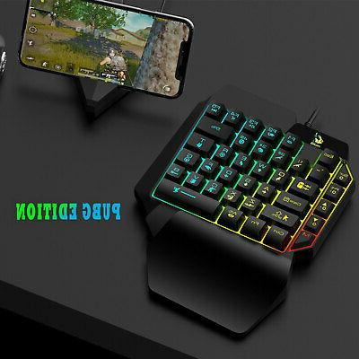 Mini One-Handed Gaming RGB LED Backlit Wired Game 35 Accessory