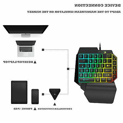 Mini One-Handed RGB Backlit Wired Game