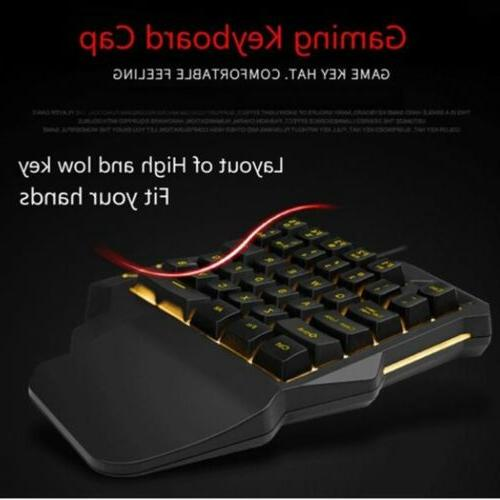 Mini One Hand Gaming Keyboard Single Keypad PC Laptop