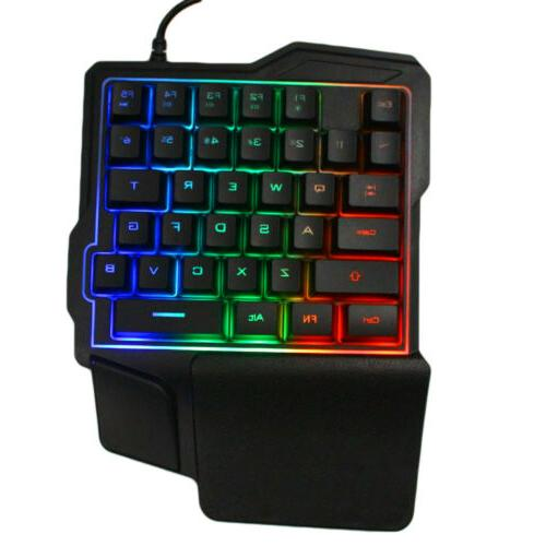 Mini One-Handed RGB Led Wired Game 35 Accessory