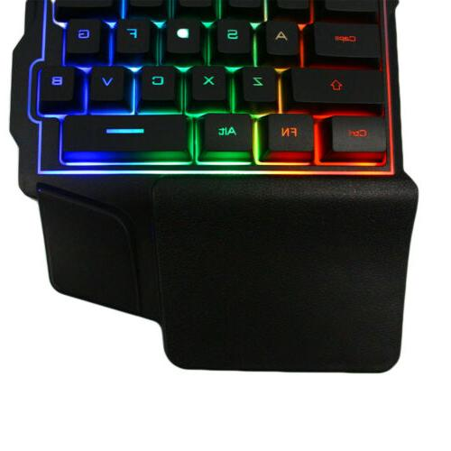 Mini One-Handed Gaming RGB Led USB Wired Accessory