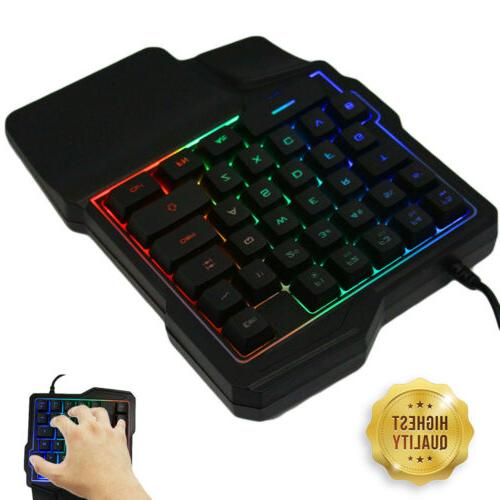 Mini One-Handed RGB Led USB Wired 35 Accessory