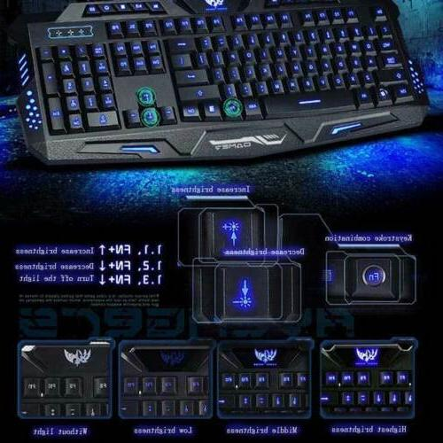 3 colors Backlight Gaming Keyboard PC A