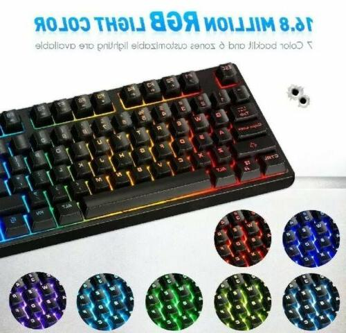NEW RARE GAMERS KEYBOARD LED 16.8 Million Color