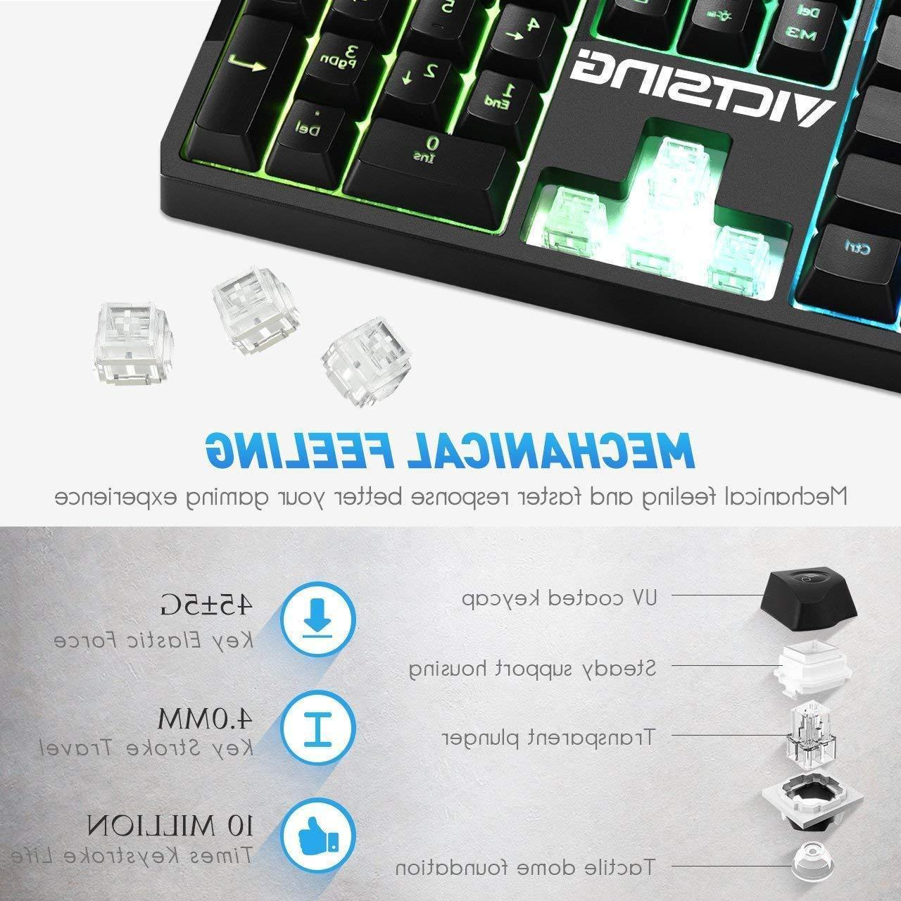 nEW VicTsing RGB Wired Gaming Keyboard, for / Laptop