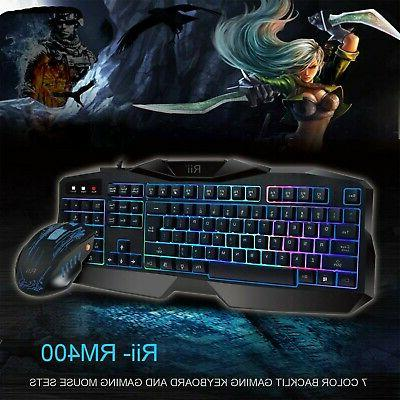 New Rii Gaming Keyboard & Combo Bundle