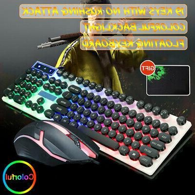 new t6 led rainbow backlight gaming keyboard