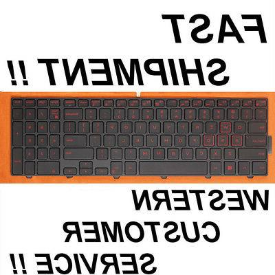 New for DELL Inspiron 15-5749 5576 5577 US  Black backlit keyboard