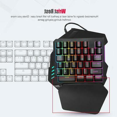 One Hand with Backlit Keyboard Game Keypad PC Laptop