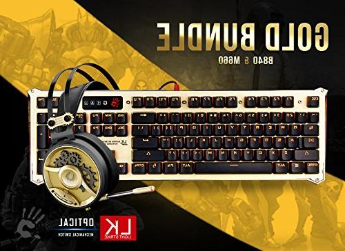 Keyboard & Bundle in Gold - Light Optical Switches 40mm Carbon Headset