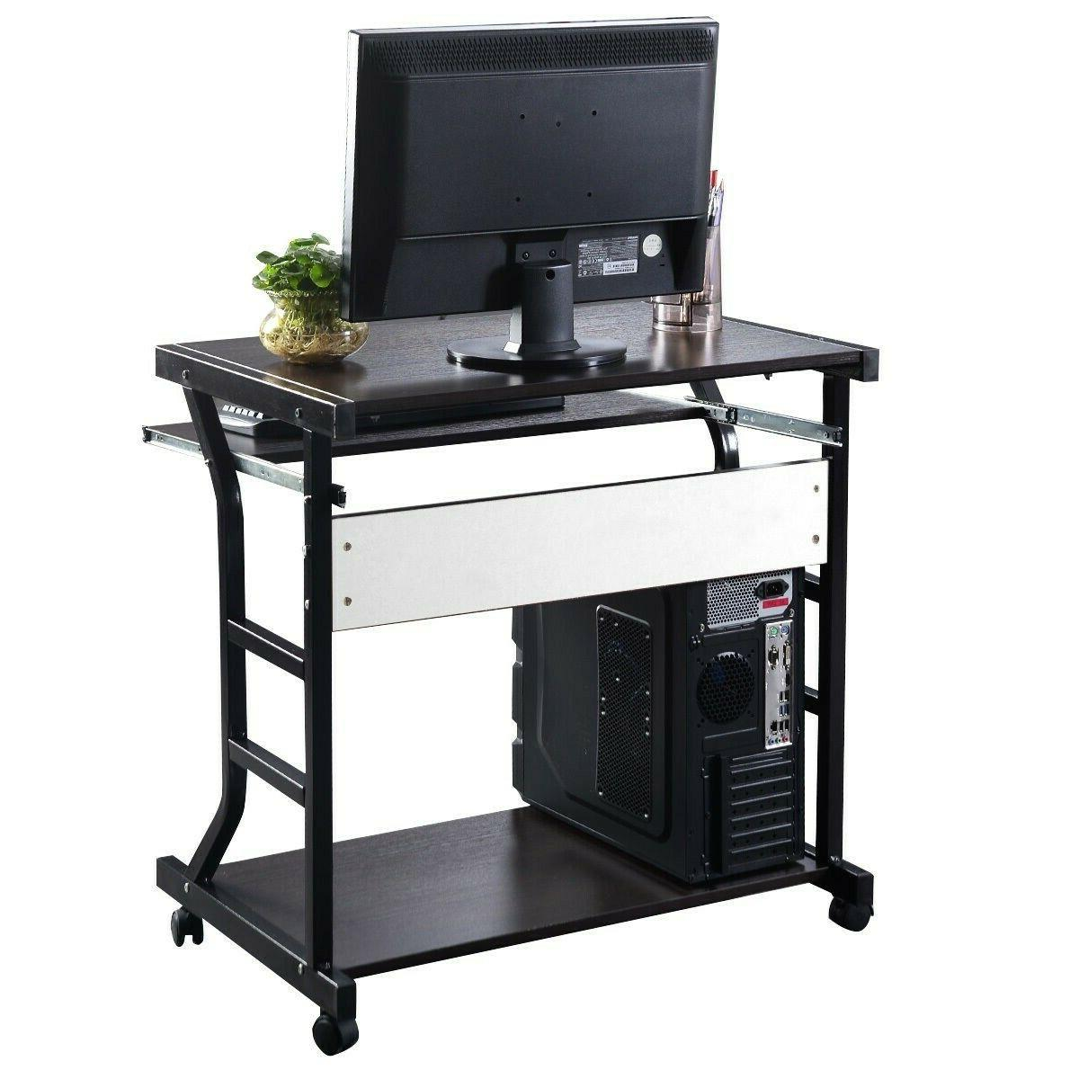 Computer Desk for Small Spaces PC Station Keyboard