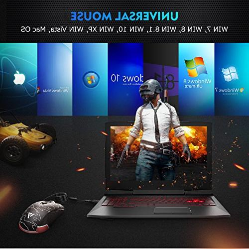 VicTsing Programmable Wired Gaming High with & Breathing & Laptop, Blue Black