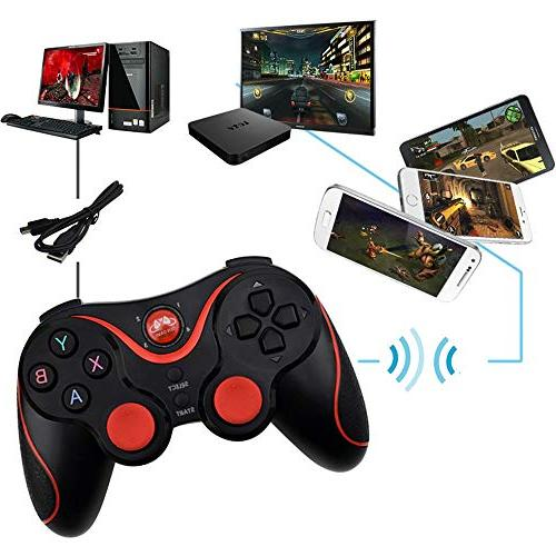 LXWM PS3 Bluetooth, Pressure Sensitive Buttons, Analog Grips, Playstation 3 3 Controller,Black