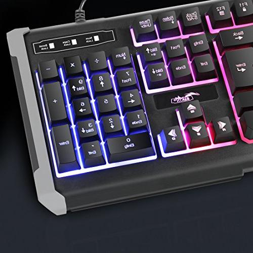 BAKTH Mechanical Feeling Gaming Keyboard and Wired Mouse with DPI Game or Large Pad