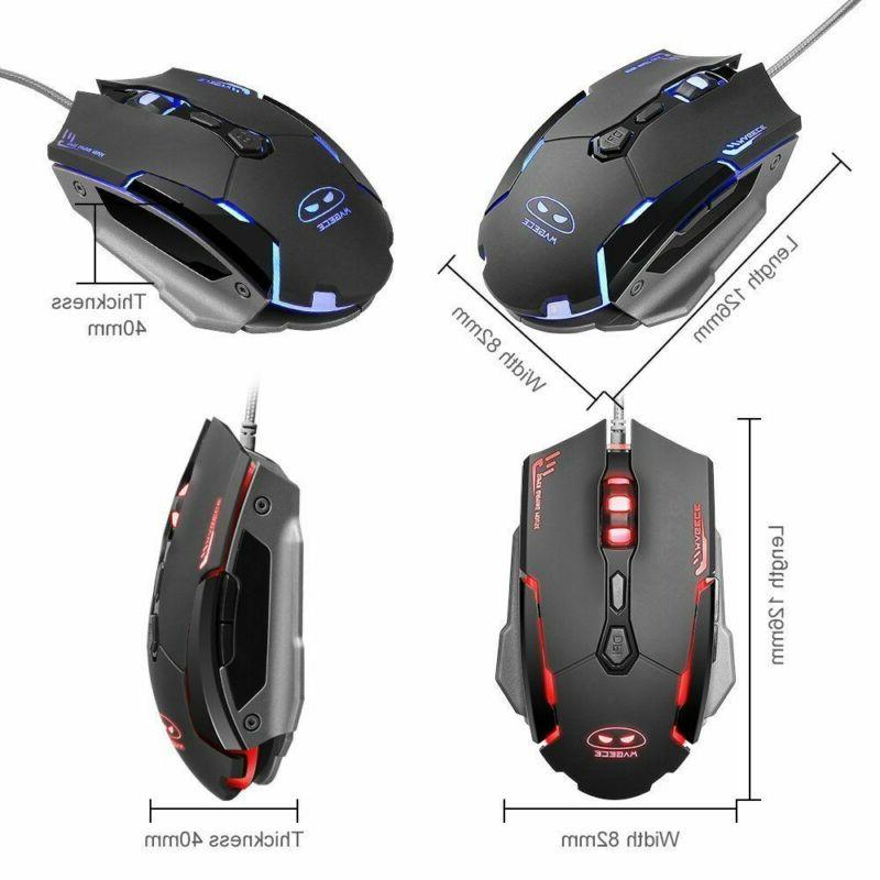 Rainbow Gaming Mouse Set Backlight Mouse Mice