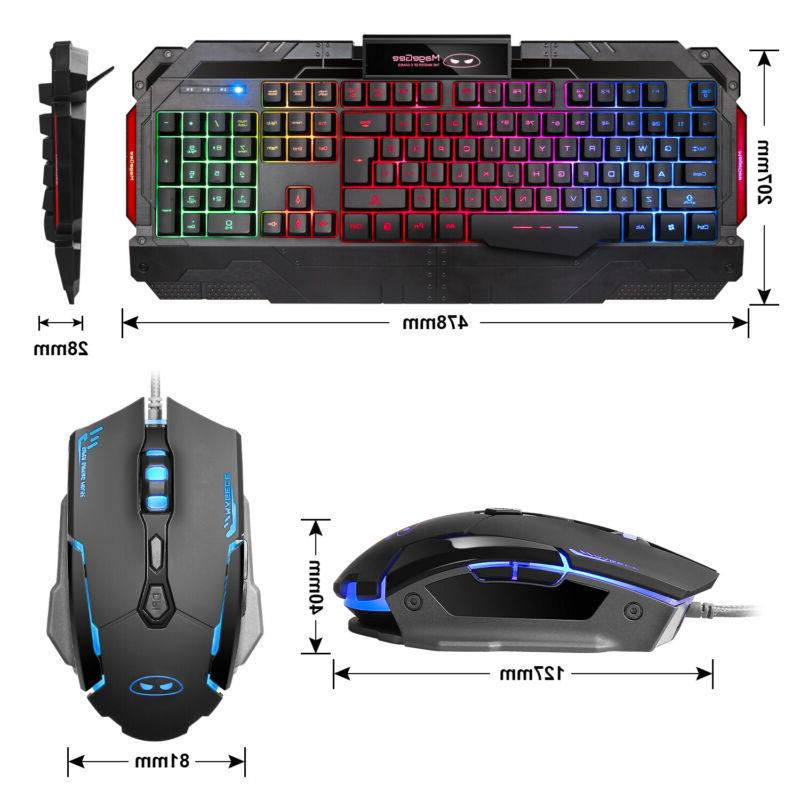 Rainbow Mouse Set Multi-Color Changing Backlight Mice