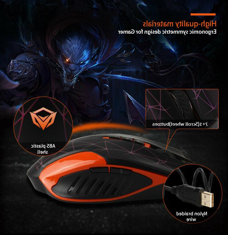 MeeTion Mouse, Pad, Headset 1 Set