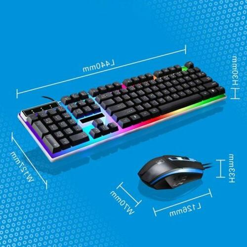 Pro Wired Keyboard Mouse Backlit Computer