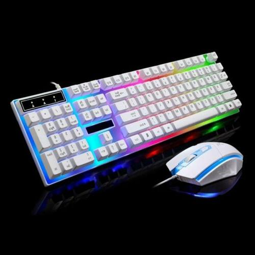 Rainbow Keyboard Mouse for One Gaming Backlight