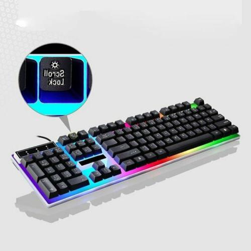 Pro Mouse Combo Colorful LED Backlit Computer Up