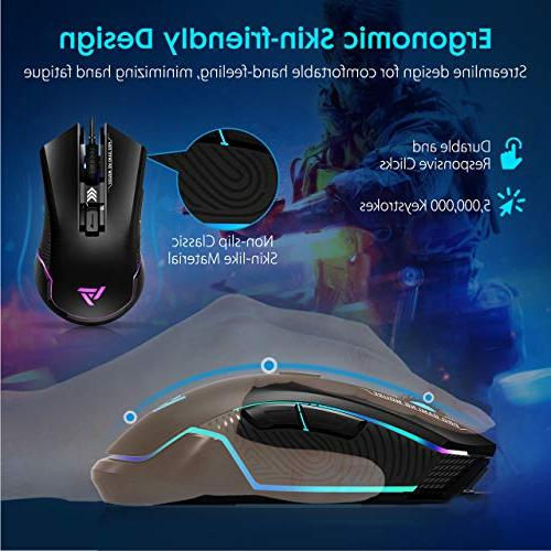Wired, 16.8 Chroma RGB Optical Sensor, 6 Buttons Computer Mice 6 DPI Levels, -