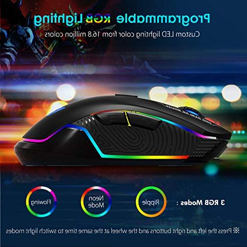 VicTsing Gaming Wired, 16.8 Chroma RGB Backlit, 7250 Optical Sensor, 6 Mice with 6 DPI