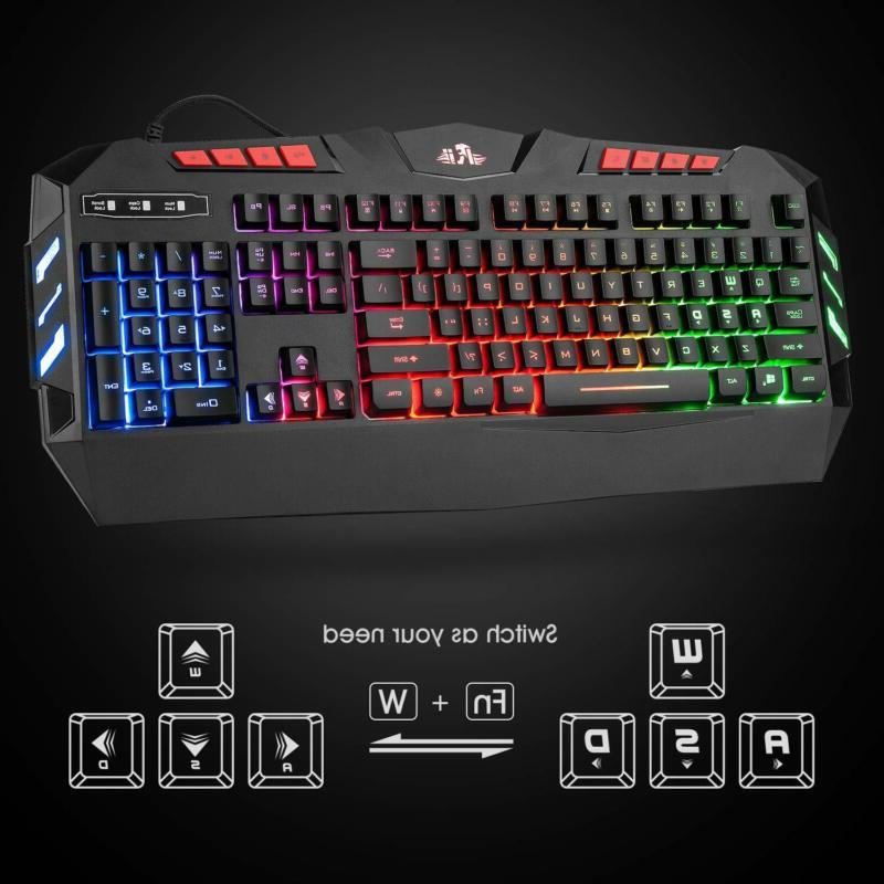 Rii Rgb Led Wired Keyboard Mouse Combo,Pc Gaming R