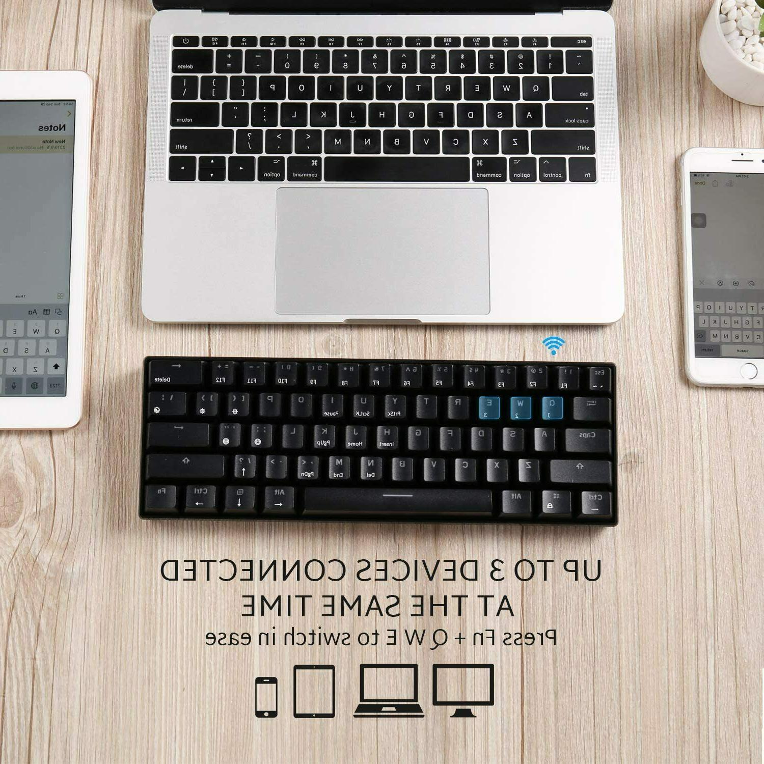 RK ROYAL Wireless Keyboard,UltraCompact BrownS