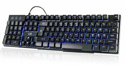 rk100 3 colors led backlit mechanical feeling