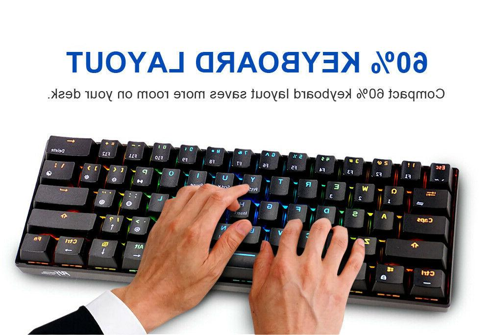 Royal Kludge bluetooth Wired Dual 60% RGB Mechanical Gaming