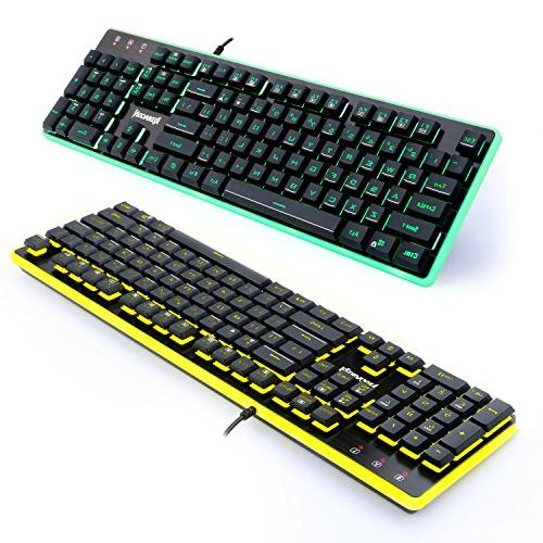 Redragon S107 Keyboard, Mouse, Mouse Feel 104 RGB LED Keyboard, Wired DPI Pad Games -