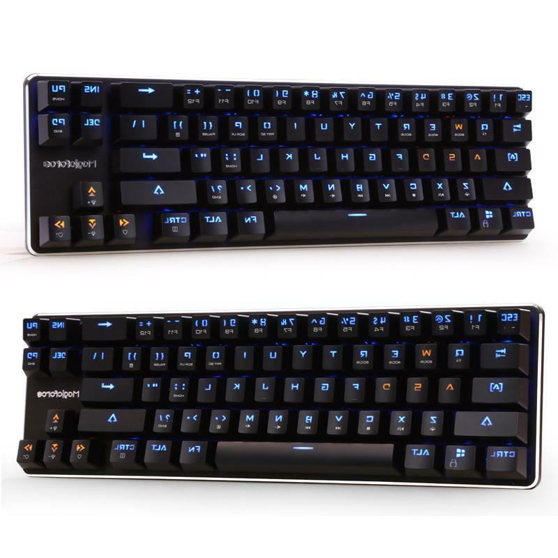 Smart 68 Keys Magicforce Wired Blue Led Usb Mechanical Gamin