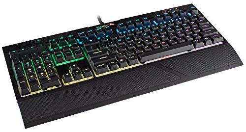 CORSAIR Mechanical Keyboard - USB Passthrough Linear and Quiet MX Switch RGB LED Backlit
