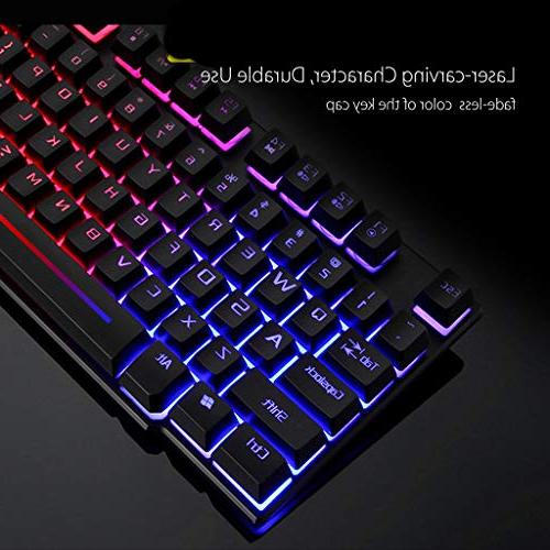 HAHAP Gaming Mouse Rainbow Backlight and Mouse PC Laptop