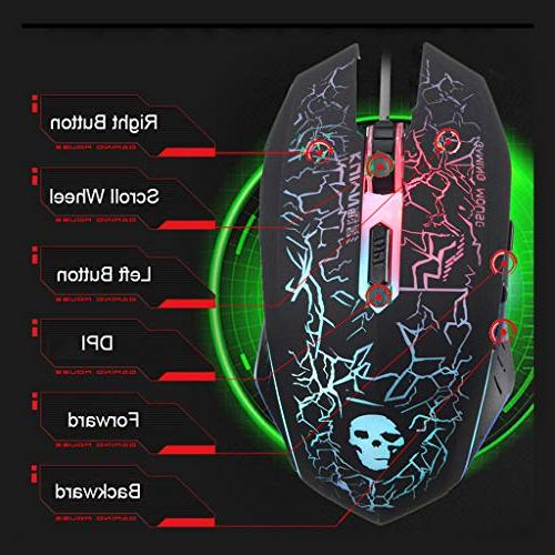 HAHAP Gaming Keyboard Mouse ComboT6 USB and Mouse Set PC