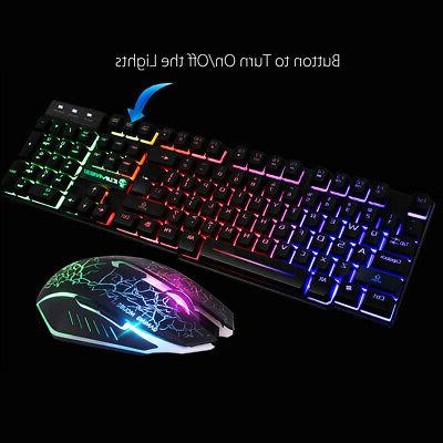 US T6 Backlight Gaming Mouse & USB